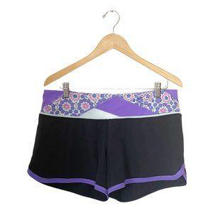 lululemon Groovy Run Shorts Black Quilted Waist 10